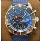 SOLD - NEW - BREITLING Superocean Heritage 2 Chrono Ceramic Bezel Blue Dial S/S Auto 44mm