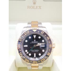 SOLD - ROLEX Gmt Master II 40mm Steel/Gold 116713LN
