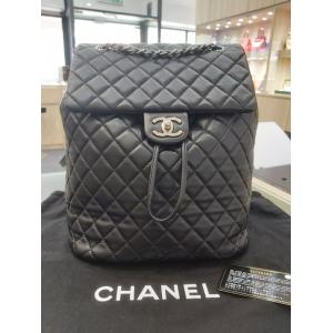 SOLD - CHANEL Black Classic Urban Spirit Backpack Large Black Lambskin