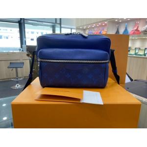 SOLD - LV Outdoor Messenger Bag Taiga Leather Navy Blue