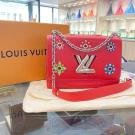 LIMITED EDITION - LV Red Epi Leather Mechanical Flowers Twist MM Bag