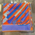 NEVER BEEN USE - HERMES Double Face Scarf 90