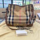 BURBERRY Brown Leather Bridle House Check Canvas Canterbury Tote - NETT PRICE